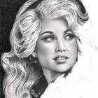 Art Drawing - Making of Dolly Parton Portrait - Step 6