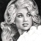 Art Drawing - Making of Dolly Parton Portrait - Step 7