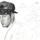Art Drawing - Making of Donnie Wahlberg Portrait - New Kids On The Block - Step 3