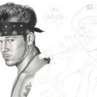 Art Drawing - Making of Donnie Wahlberg Portrait - New Kids On The Block - Step 4