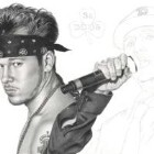Art Drawing - Making of Donnie Wahlberg Portrait - New Kids On The Block - Step 5