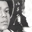 Art Drawing - Making of Michael Jackson Portrait - Step 5