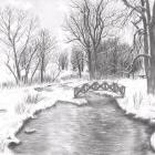 Art Drawing - Snowy Landscape