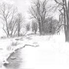 Art Drawing - Making of Snowy Landscape - Step 5