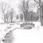 Art Drawing - Making of Snowy Landscape - Step 6