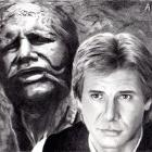 Art Drawing - Harrison Ford Portrait - Han Solo & Carbonite - Star Wars