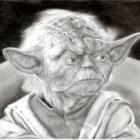 Art Drawing - Yoda Portrait - Star Wars