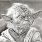 Art Drawing - Making of Yoda Portrait - Star Wars - Step 7
