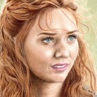 Art Drawing - Eleanor Tomlinson Portrait - Demelza Poldark