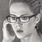 Art Drawing - Emily Bett Rickards Portrait - Felicity Smoak - Arrow