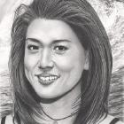 Art Drawing - Grace Park Portrait