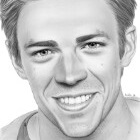 Art Drawing - Grant Gustin Portrait