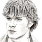 Art Drawing - Jared Padalecki Portrait #3 - Sam Winchester