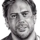 Art Drawing - Jeffrey Dean Morgan Portrait - John Winchester in Supernatural
