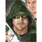 Art Drawing - Stephen Amell Portrait - Oliver Queen - Arrow