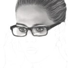 Art Drawing - Making of Emily Bett Rickards Portrait - Felicity Smoak - Arrow - Step 4