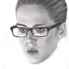 Art Drawing - Making of Emily Bett Rickards Portrait - Felicity Smoak - Arrow - Step 5