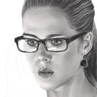 Art Drawing - Making of Emily Bett Rickards Portrait - Felicity Smoak - Arrow - Step 6