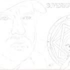 Art Drawing - Making of Jim Beaver Portrait - Bobby Singer in Supernatural - Step 1