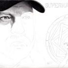 Art Drawing - Making of Jim Beaver Portrait - Bobby Singer in Supernatural - Step 3