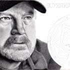 Art Drawing - Making of Jim Beaver Portrait - Bobby Singer in Supernatural - Step 8