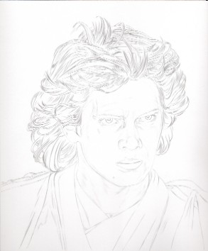 Art Drawing � Tutorial - Making of Anakin Skywalker Portrait - Step 1