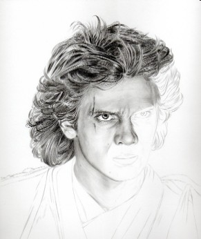 Art Drawing – Tutorial - Making of Anakin Skywalker Portrait - Step 3