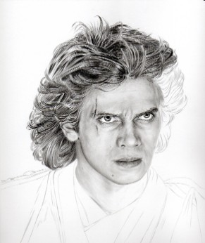 Art Drawing – Tutorial - Making of Anakin Skywalker Portrait - Step 4