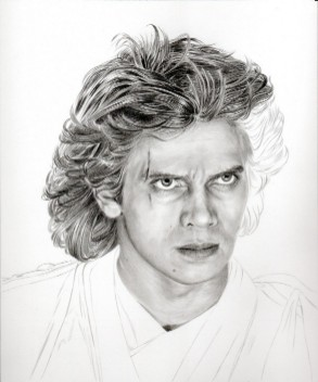 Art Drawing – Tutorial - Making of Anakin Skywalker Portrait - Step 5