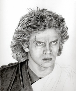 Art Drawing � Tutorial - Making of Anakin Skywalker Portrait - Step 6