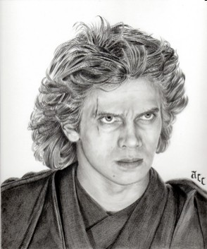 Art Drawing � Tutorial - Making of Anakin Skywalker Portrait - Step 7